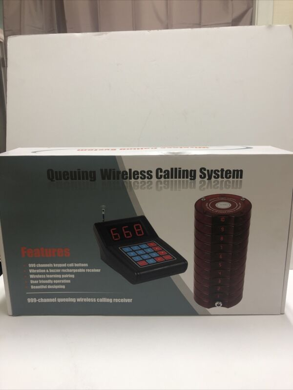 Retekess Restaurant Wireless Pager And Calling System  And 999 Keypad