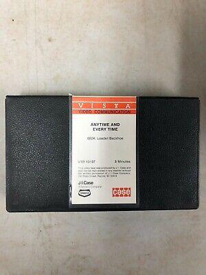 Case 680k Backhoe Vhs Tape