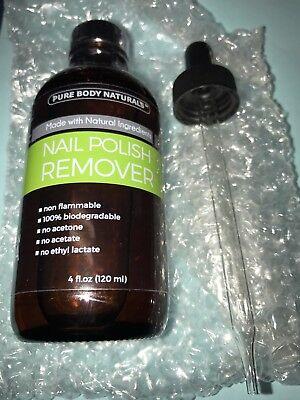 - Pure Body Naturals Nail Polish Remover, 4 oz 100% natural non flammable