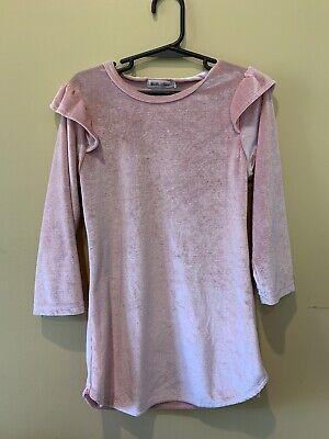 Girls Pink Velvet-like Dress Size 3T