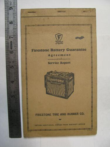 1934  Firestone Receipt Book