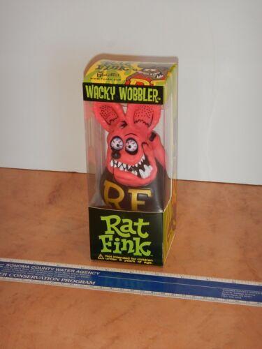 2005 FUNKO HOT PINK RAT FINK WACKY WOBBLER BOBBLE HEAD, NOS