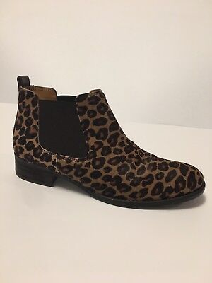GABOR Leather Leopard Pull On Low Heel Ankle Boots US Sz 7.5M for sale  Shipping to Canada