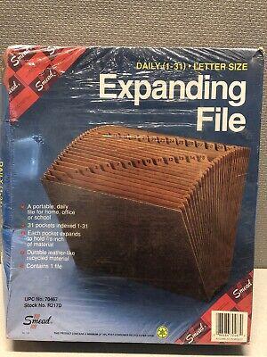 Leather-like 31 Expanding Pockets Accordion File Letter For Desk Shelf Organizer