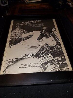 Billy Paul Let's Make A Baby Rare Original Promo Poster Ad Framed!
