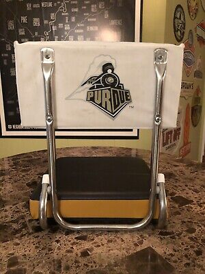 Vintage Purdue Boilermakers Football Stadium Bleacher Seat Cushion & Back RARE ()