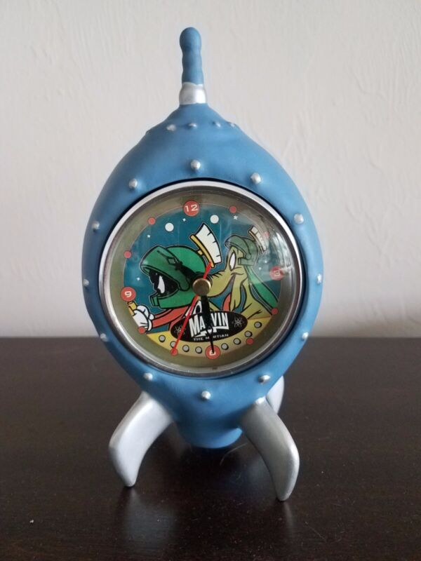 Clasic Marvin the Martian Space Ship Clock with Quartz Movement. Never used.