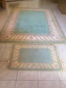 Green/Blue and Cream Wool Rug - RRP was over $2000 Rochedale South Brisbane South East Preview