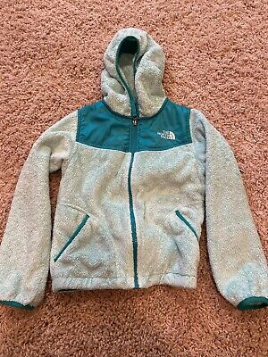 Girls The North Face Denali Fleece Jacket , Size 7/8, S/P Color Mint Blue Green