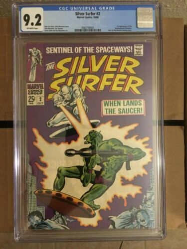 Silver Surfer 2 CGC 9.2 - 1st appearance of the Badoon - Stan Lee story -
