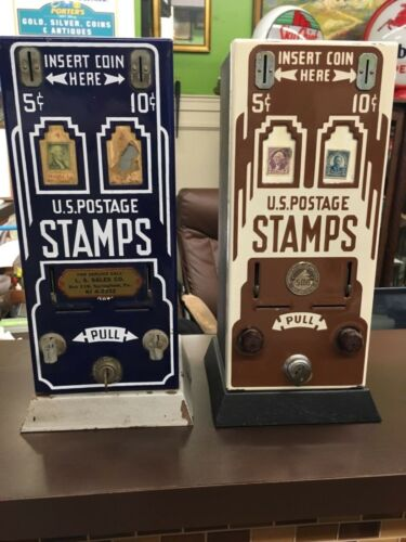 Original Art Deco Stamp Vending  Machines 5 & 10 cents Great Condition Shipman