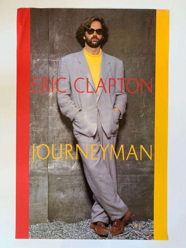 """Original 1989 Eric Clapton Journeyman Promotional Poster 23""""x35"""" Excellent Rock"""