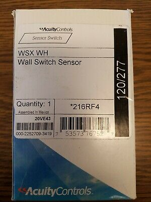 New- Sensor Switch Wsx Wh Wall Motion Detector Switch Sensor 120277v White