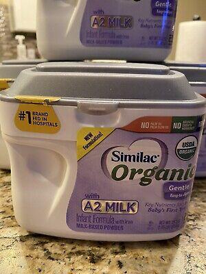 (4) Similac Organic W/ A2 Milk Infant Formula Powder 23.2 oz X 4 Expires 9/1/21