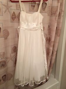 Selling white sparkly grad dress
