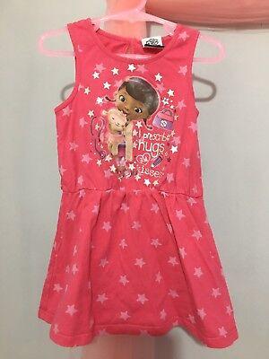 Lovely Baby Girls Pink Doc McStuffins Star Print Summer Dress 18-24m⭐️ (Doc Mcstuffins Mädchen Kleider)