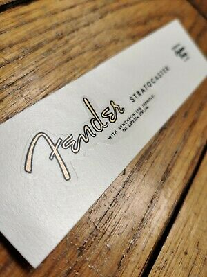 Fender Stratocaster METALLIC GOLD LOGO Headstock Waterslide Decal RARE & QUALITY