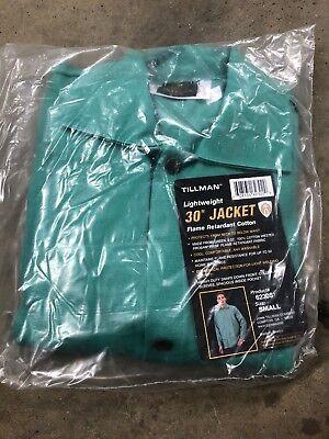 Tillman 6230 30 9 Oz. Green Fr Cotton Welding Jacket Small