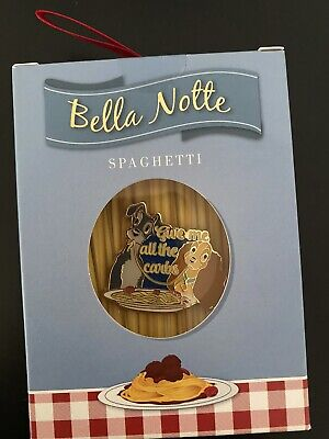 """Disney LADY & TRAMP 2019 Holiday Gifting Ornament Spaghetti """"Bella Notte"""" Pin LE"""