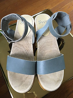 NEW Sven Clogs - Ankle Wrap Strap - Size 39 - Like No. 6 - Grey - FREE Shipping