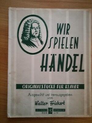 Noten. Wir spielen Händel. Originalstücke für Klavier.