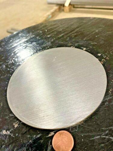 "1/8"" Steel Plate, Disc Shaped, 5"" Diameter,  1045 Steel, Round, Circle"