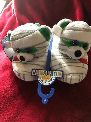 Baby Build A Bear (NWT Build A Bear workshop Mummy Slippers Child Kids Halloween Large)