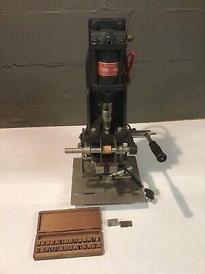 Ackerman Gould Ku-1 Gold Stamping Imprinting Hot Foil Machine 110v 3amp Large
