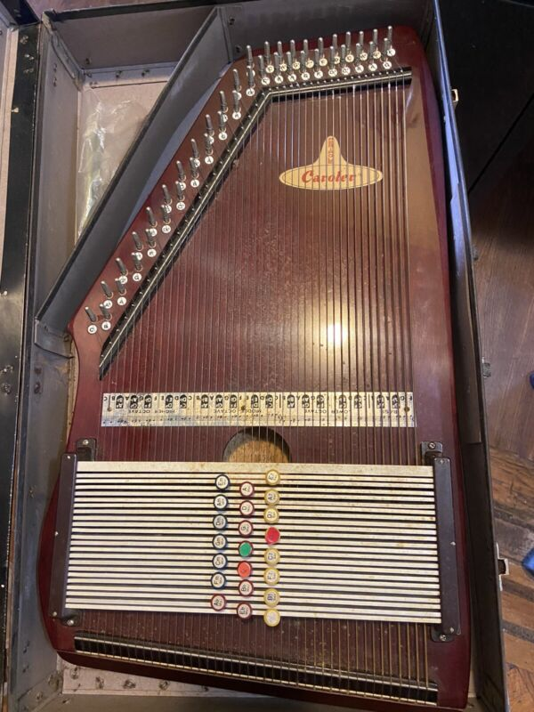 Vintage Antique Caroler Peripole Autoharp Musical Instrument