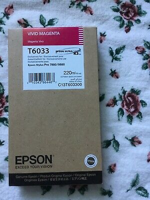 Epson Vivid Magenta T6033 Pro 7880/9880 UltraChrome K3 Ink Cartridge (9880 Ultrachrome K3 Ink)