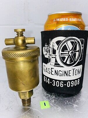Brass No. 1 T-handle Automatic Grease Cup Hit Miss Engine Vintage Lubricator