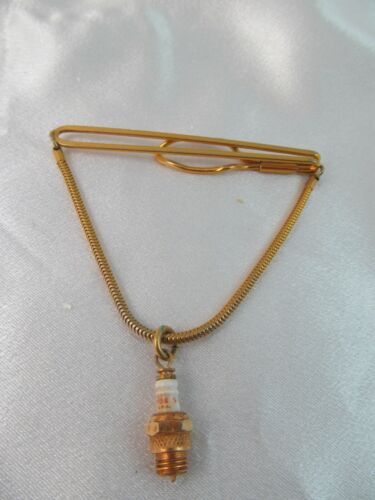 VTG ADVERTISING OLD CHAMPION SPARK PLUG TIE BAR TIE CLASP COLLECTIBLE