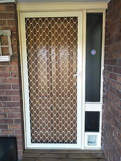 Solid Timber Entrance Door w. Security Screen Door