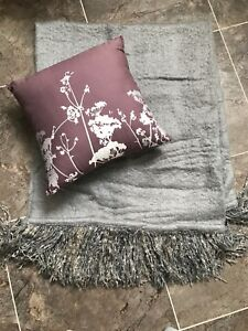 Beautiful brand new throw and accent pillow!