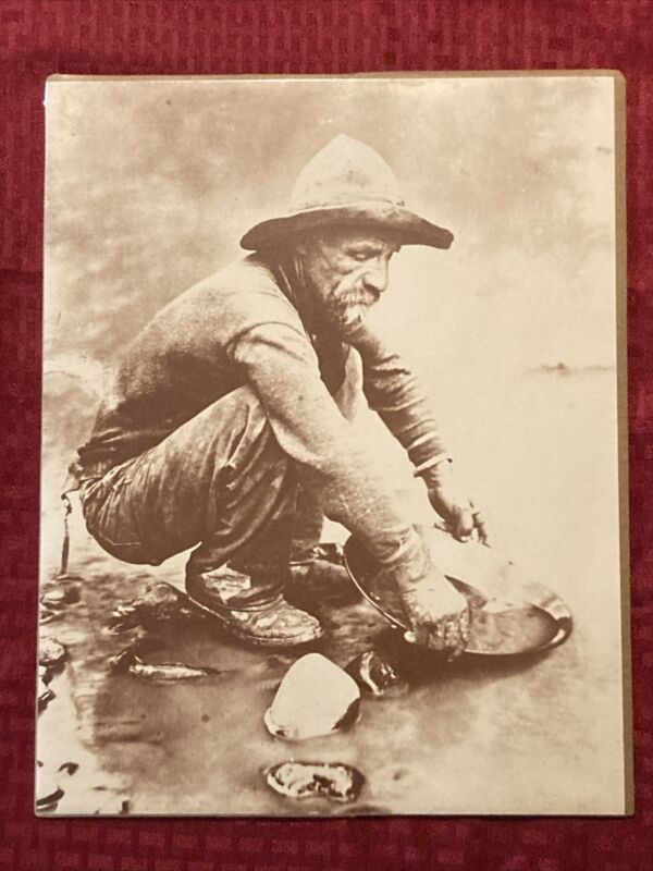 Prospector Panning Gold 11x14 Photo Old West Collectors Series