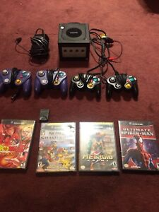 Jetblack GameCube(perfect condition) 4 controllers, 4 games