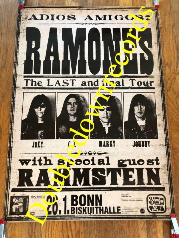 VTG Ramones Concert Poster 1996 Orig Very Rare Punk Rock CBGB Rammstein Germany