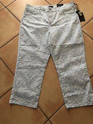 NYDJ SZ 16 Blue/White Ankle Length Stretch Four Pocket Jeans -