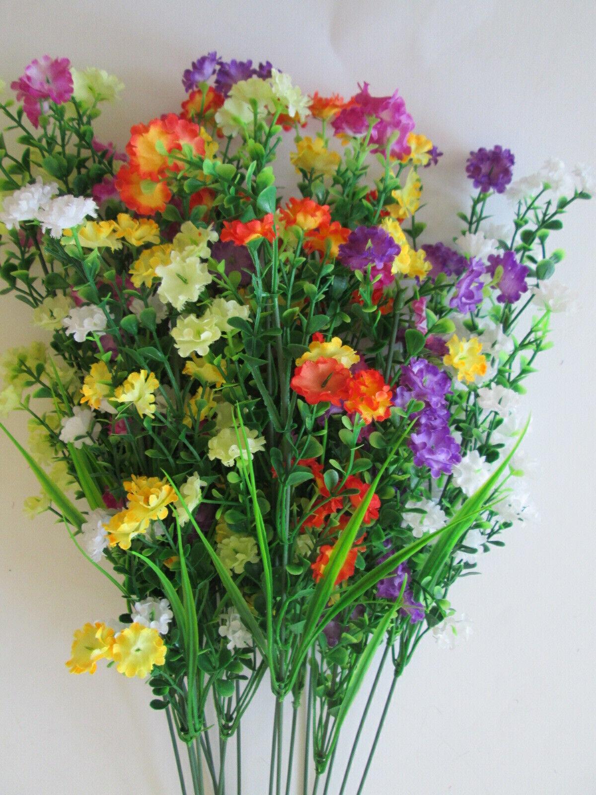 3x Blüten Dekozweig 48cm Künstliche Kunst Seiden Blumen Strauß Pflanzen Frühling