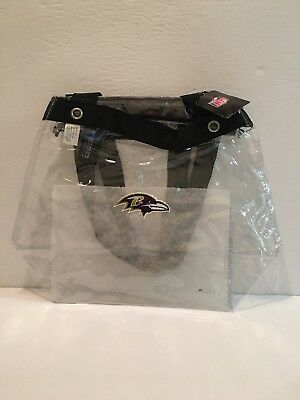 Baltimore Ravens Nfl Tailgating (NFL Baltimore Ravens Clear Reusable Plastic Stadium Game Day Bag Tailgate)