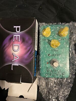 Joyo Jf-01 Vintage Overdrive Guitar Effect Pedal With True Bypass!!