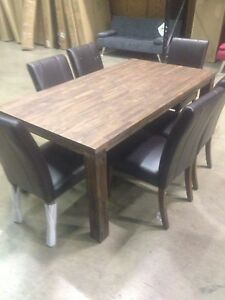 Wood Table with 6 Chairs (NEW)