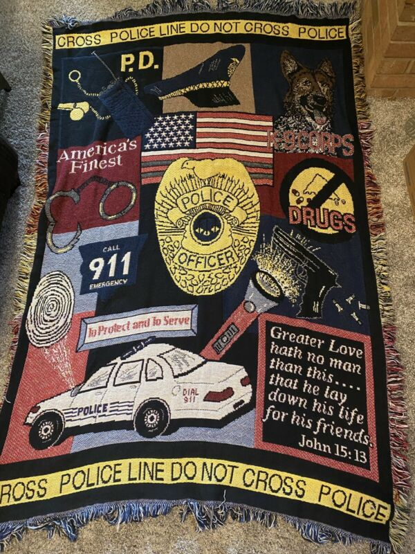 Police Throw Blanket America's Finest 911 Protect And Serve Lay Down His Life