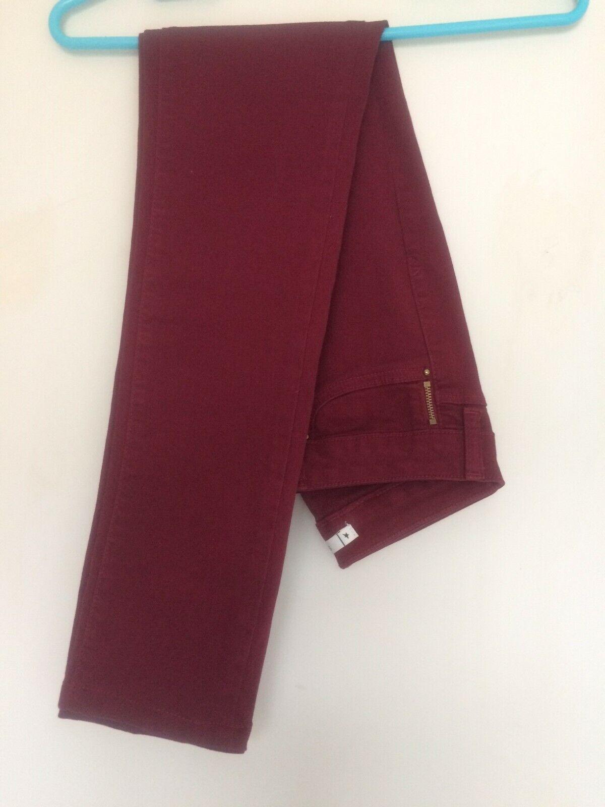 Jean skinny - couleur bordeaux - marque