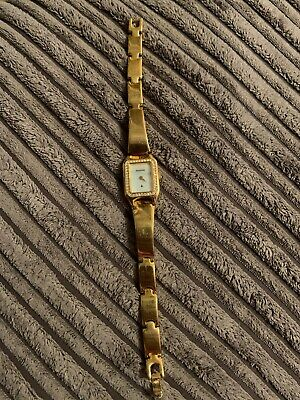 Accurist Ladies Watch Gold Colour Pearlesent Face Bracelet Strap Accurist Ladies Bracelet