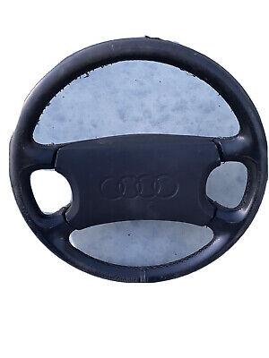 '90 - '94 Audi V8 Black Leather Steering Wheel w/ Airbag 100 200 5000 Quattro