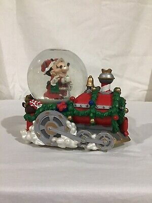Disney Mickey & Minnie Christmas Train Snow Globe