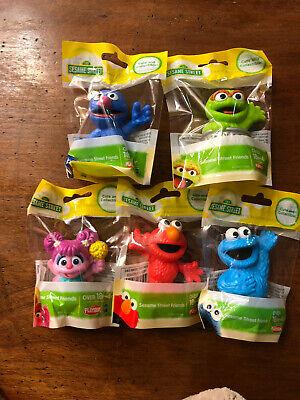 Set Of 5 Sesame Street Friends Figures Playskool Hasbro - Sesame Street Set