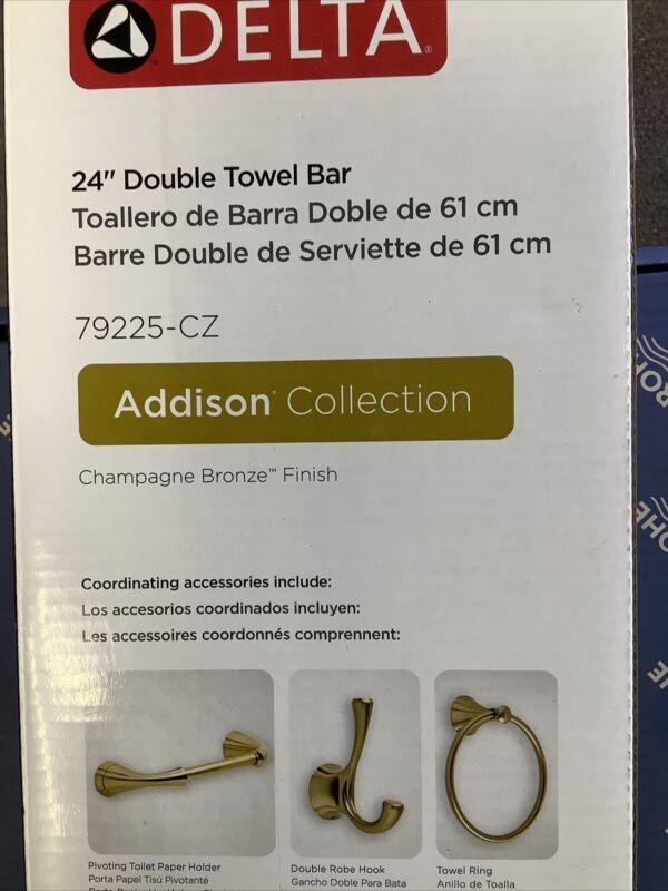 """Delta 24"""" Double Towel Bar Addison Collection Champagne Bronze 79225-CZ 4d3"""