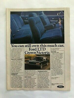 - Ford LTD Crown Victoria Vintage 1983 Print Ad